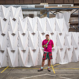 Benja Harney And His Work 'paper Chapel' Commissioned By The House