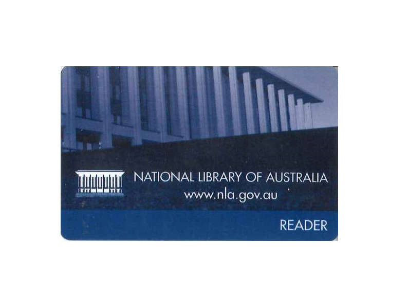 About National Library Of Australia Readers Card