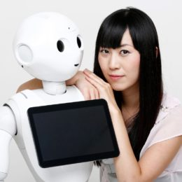 Robot-partner.com's Tomomi Ota With Pepper (photo By Pierre-Olivier).