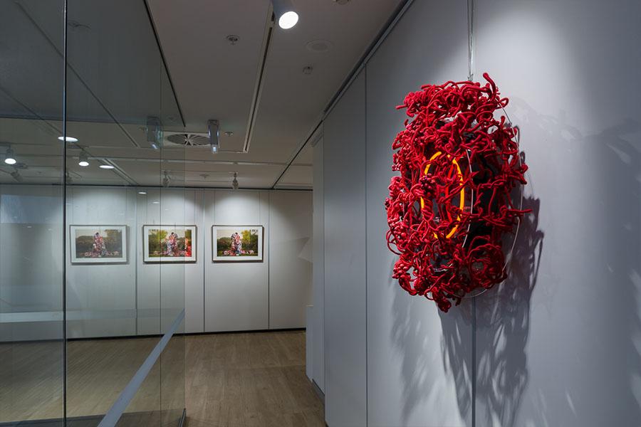 Hiromi Tango, (Name TBC). Neon and Textile sculpture.