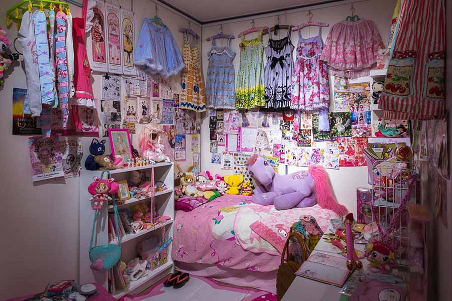 Harajuku Room installation by Megan Catherine Rose. Items courtesy of Megan and the greater Australian Japanese fashion community.