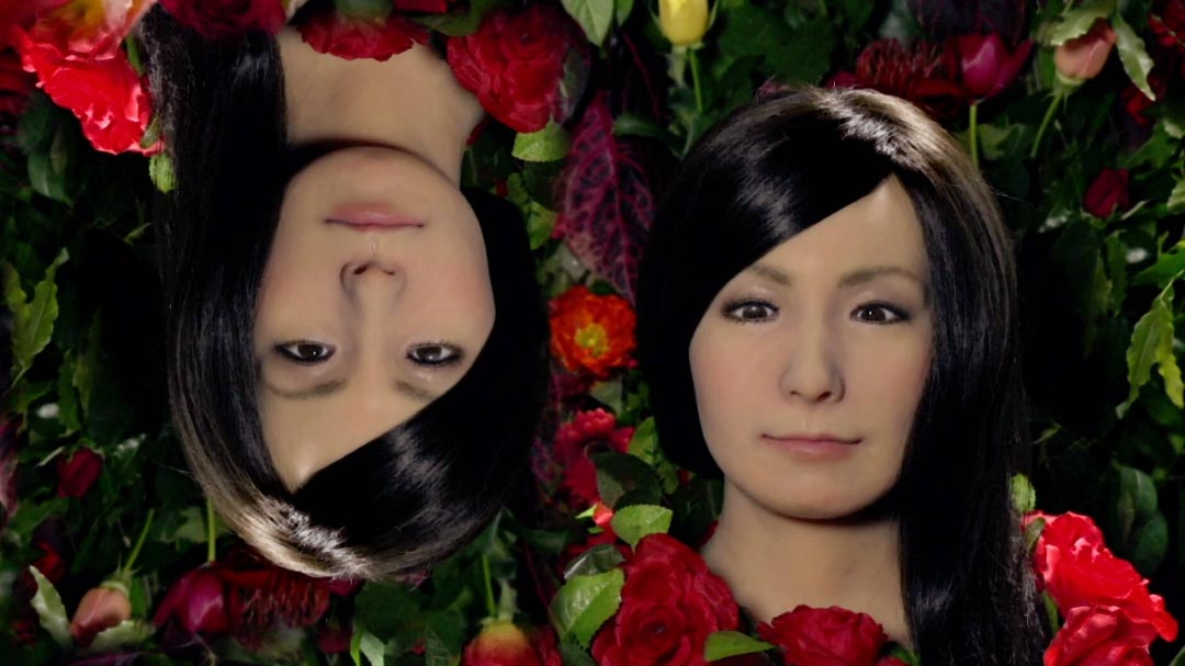 """Video still from """"Comfortable and Alive"""", part of Actroid Series I (2014) by Dr Elena Knox."""