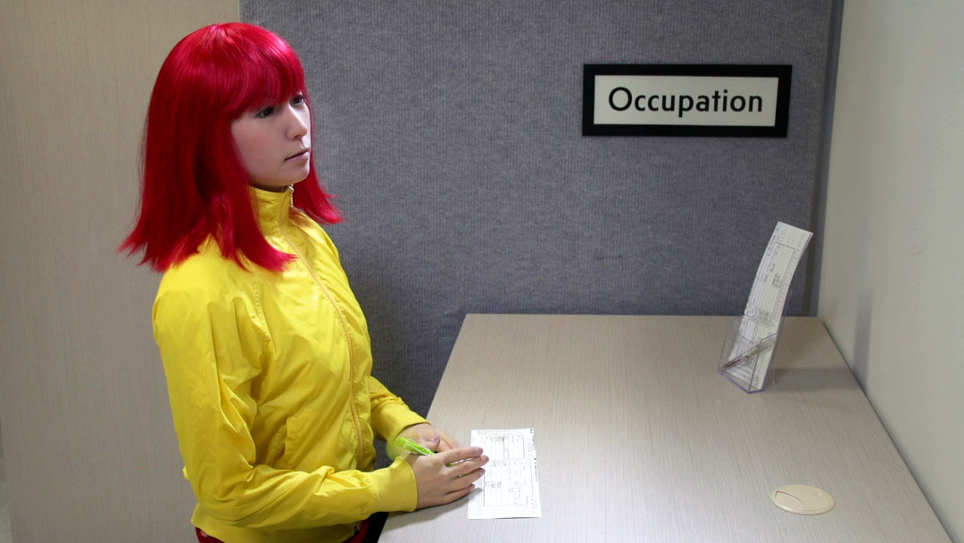 """Video still from """"Occupation"""", part of Actroid Series I (2014) by Dr Elena Knox."""